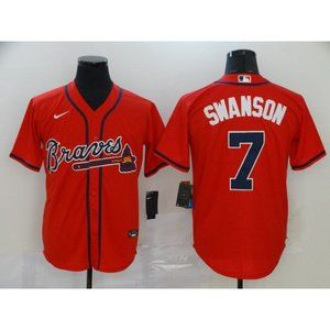 Other - Atlanta Braves Dansby Swanson Red Jersey